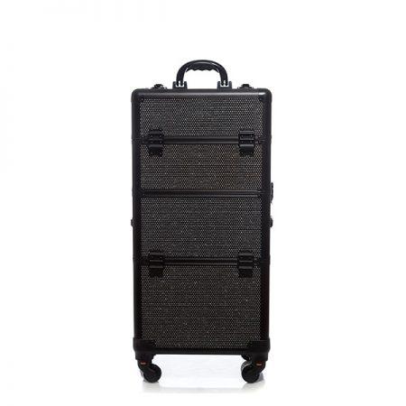 Επαγγελματική Βαλίτσα με 4 ρόδες TC-3360R Μαύρο Glitter