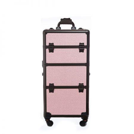 Επαγγελματική Βαλίτσα Με 4 Ρόδες TC-3360R Ροζ Glitter