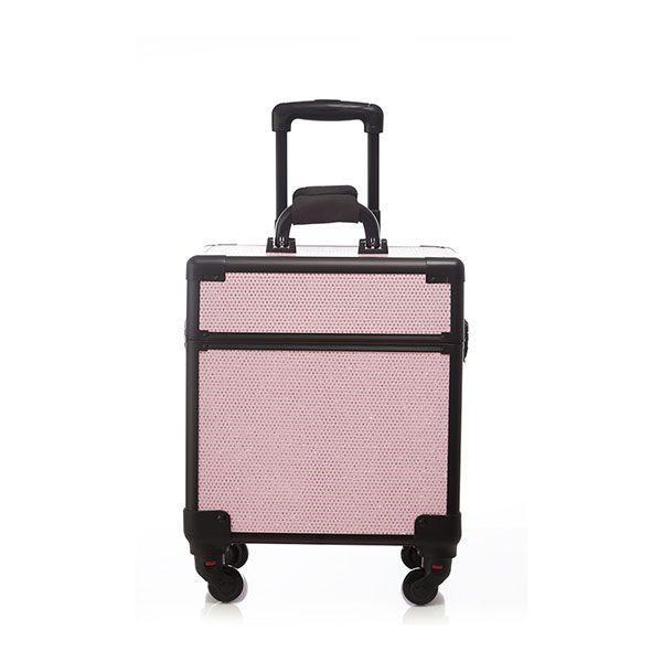 Επαγγελματική Βαλίτσα με 4 ρόδες TC-3362R Ροζ Glitter