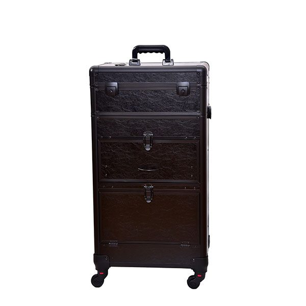 XL Επαγγελματική Βαλίτσα Μακιγιάζ TC-3380R Black Matte