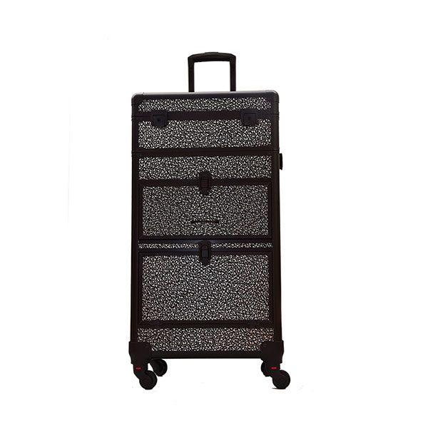 XL Επαγγελματική Βαλίτσα Μακιγιάζ TC-3380R Silver Black